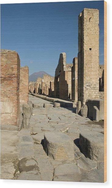 Italy, Campania, Pompeii Wood Print by Jaynes Gallery