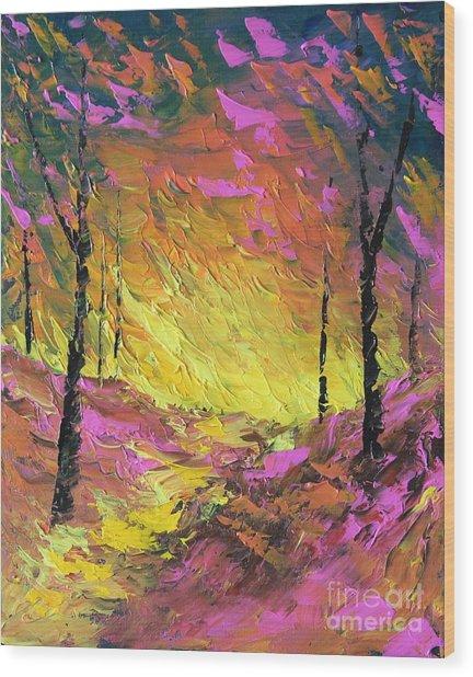 Its A Colorful Life Wood Print