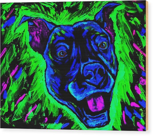 It's A Pitty Black Light Wood Print