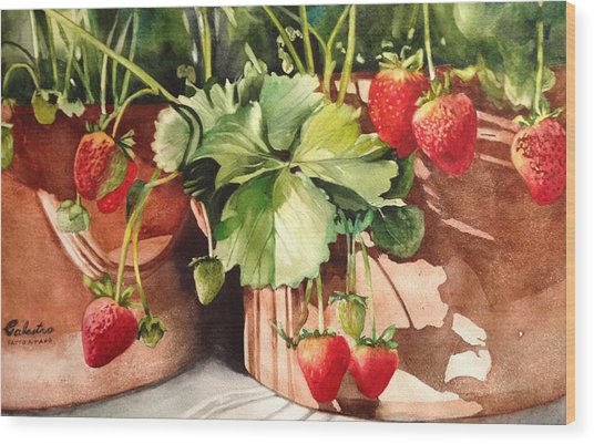 It's Berry Season Wood Print