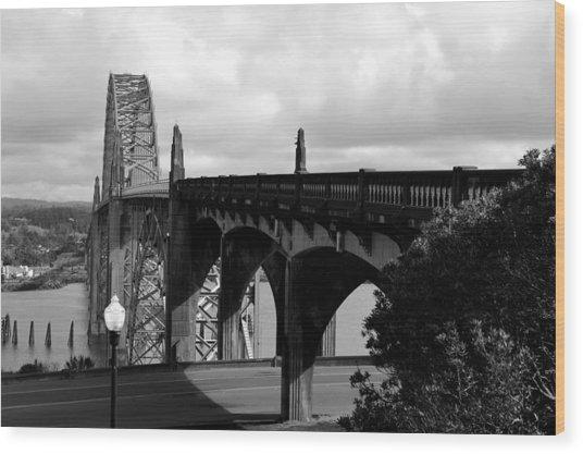 It's Water Under The Bridge  Wood Print by Sheldon Blackwell