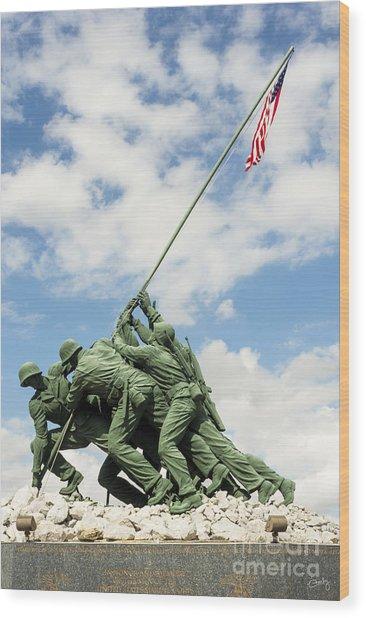 Iwo Jima Monument II Wood Print