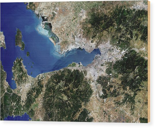 Izmir Wood Print by Planetobserver/science Photo Library