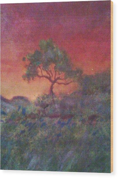Jacaranda Tree Wood Print by Joy Gilley