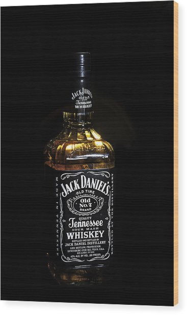 Wood Print featuring the photograph Jack Daniel's Old No. 7 by James Sage