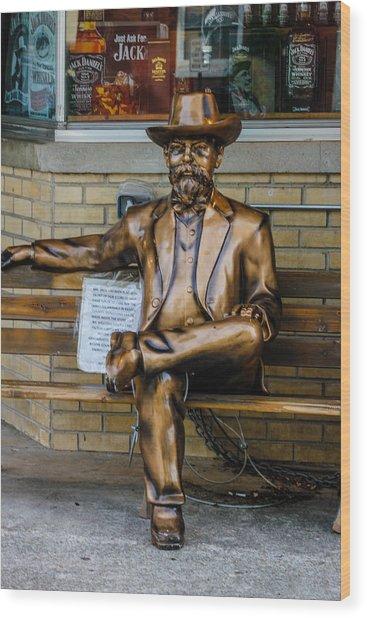 Jack Daniel's Statue Wood Print