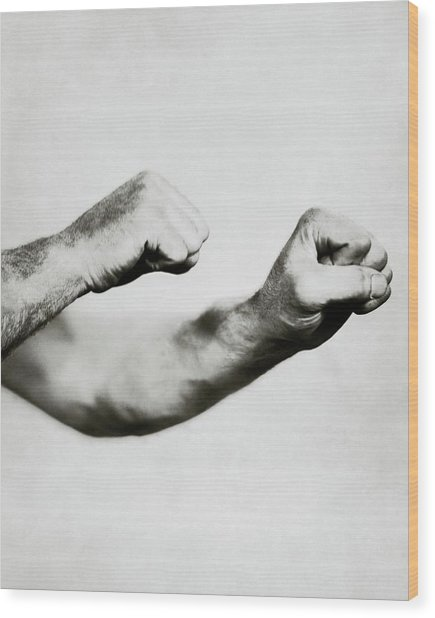 Jack Dempsey's Hands Wood Print by Ira L. Hill