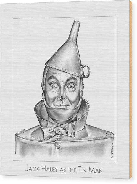 Jack Haley As The Tin Man Wood Print