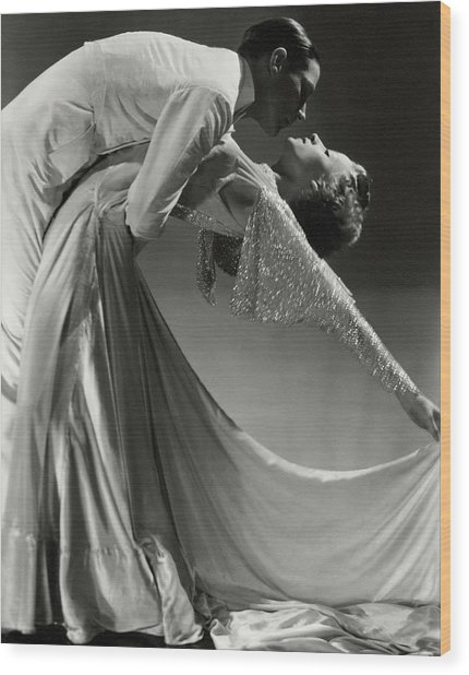 Jack Holland And June Hart Dancing Wood Print