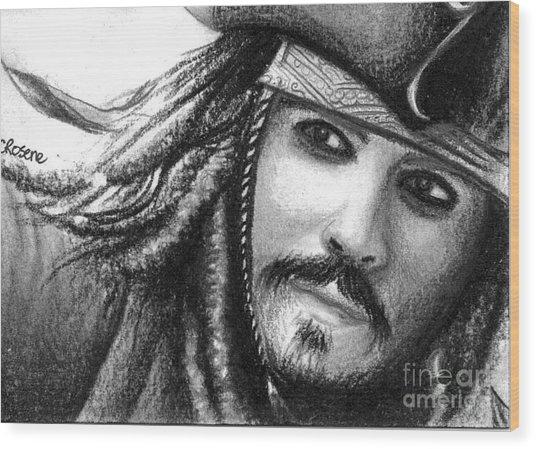 Jack Sparrow Wood Print