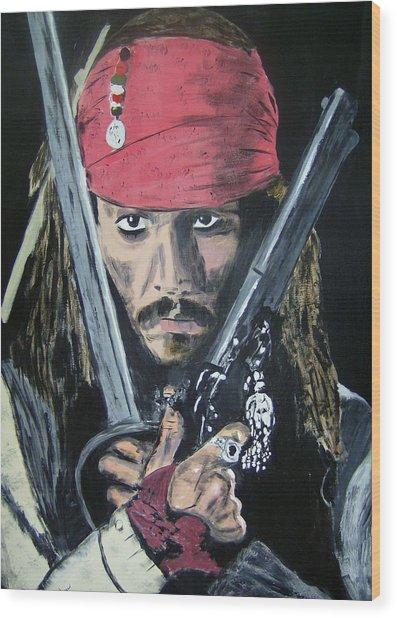 Jack Sparrow Johnny Depp Wood Print
