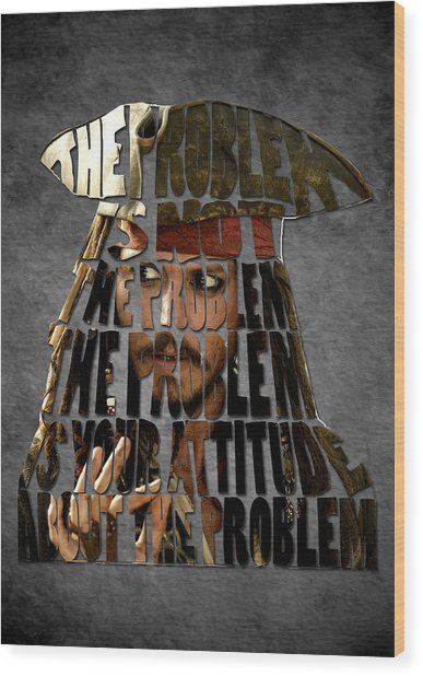 Jack Sparrow Quote Portrait Typography Artwork Wood Print