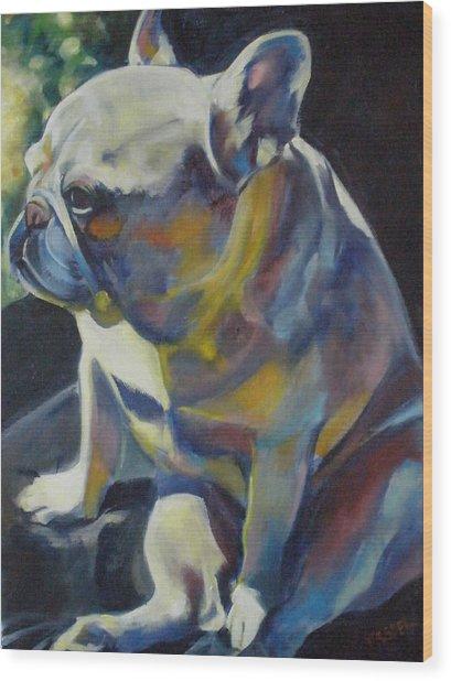Jack The French Bulldog Wood Print