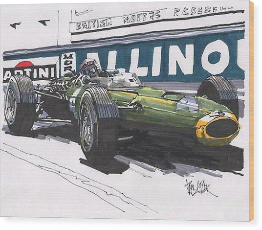 Jackie Stwart Brm Grand Prix Of Monaco Wood Print
