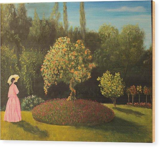 Jackie's Garden Wood Print