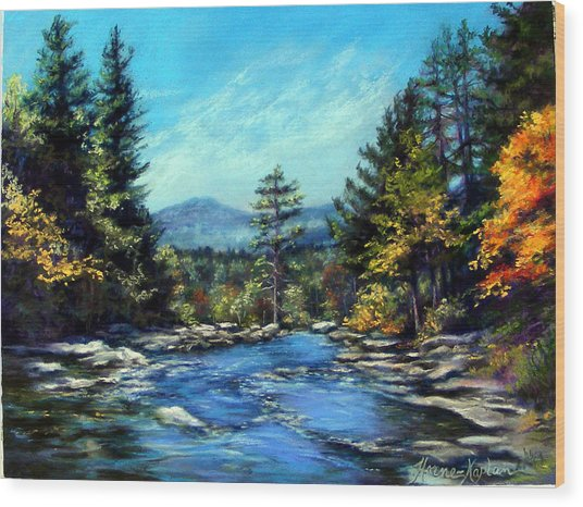 Jackson Falls New Hampshire Wood Print
