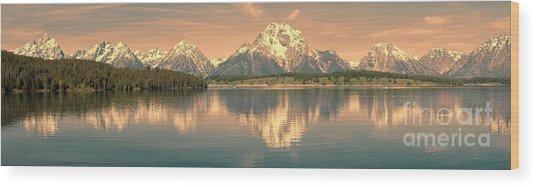 Jackson Lake Sunrise - Grand Teton Wood Print