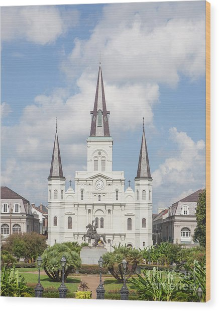 Jackson Square Cathedral Wood Print
