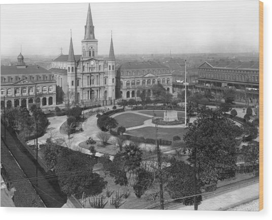 Jackson Square In New Orleans Wood Print