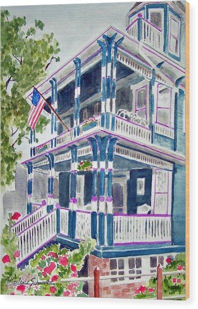 Jackson Street Inn Of Cape May Wood Print