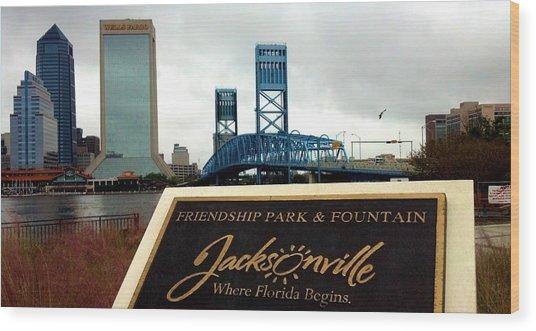 Jacksonville Wood Print