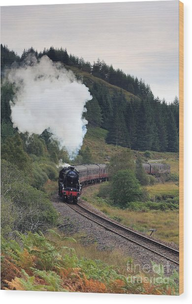 Jacobite Steam Train Wood Print by Maria Gaellman