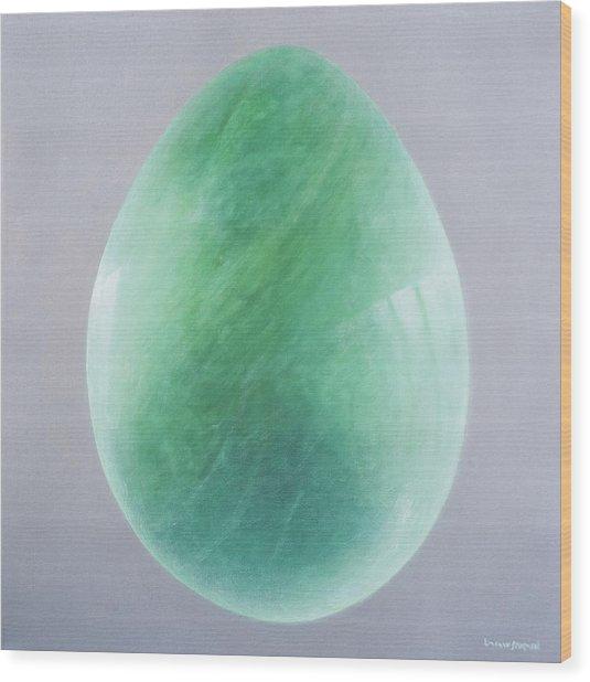 Jade Egg, 2014 Oil On Canvas Wood Print