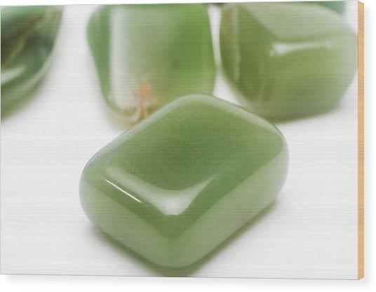 Jade Gemstones Wood Print