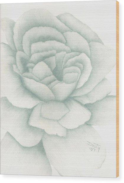 Jade Rose Wood Print by Dusty Reed