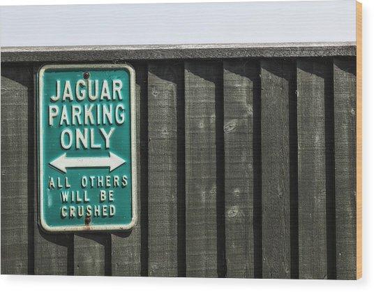 Jaguar Car Park Wood Print