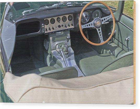Jaguar E-type Series 1 Wood Print