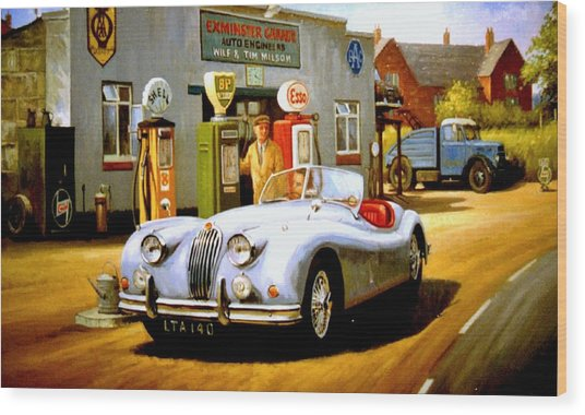 Jaguar Xk 140 Wood Print