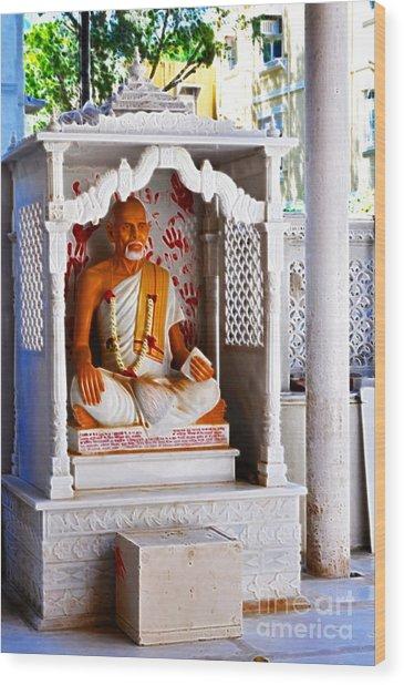 Jain Idol Wood Print