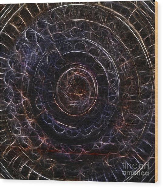 Jain Spiral Wood Print