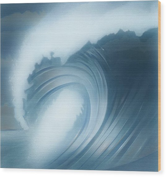 Jalama Surf Wood Print