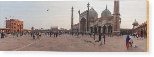 Jama Masjid Mosque, New Delhi, India Wood Print by George Pachantouris