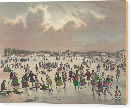 Jamaica Pond Massachusetts 1859 Wood Print
