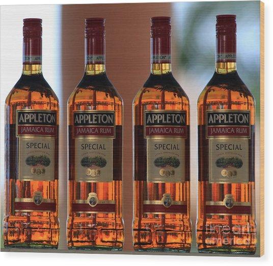 Jamaican Rum Dark Wood Print