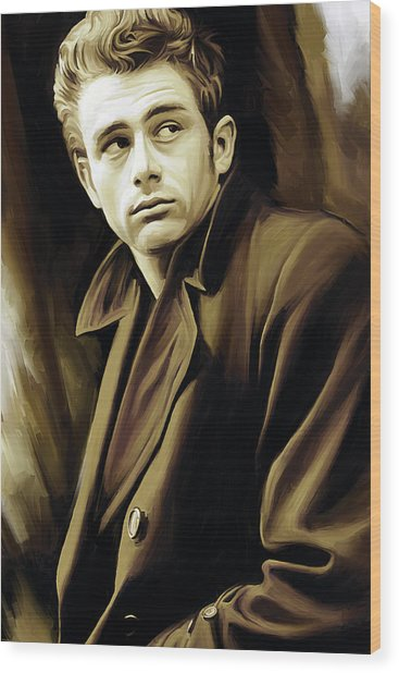 James Dean Artwork Wood Print