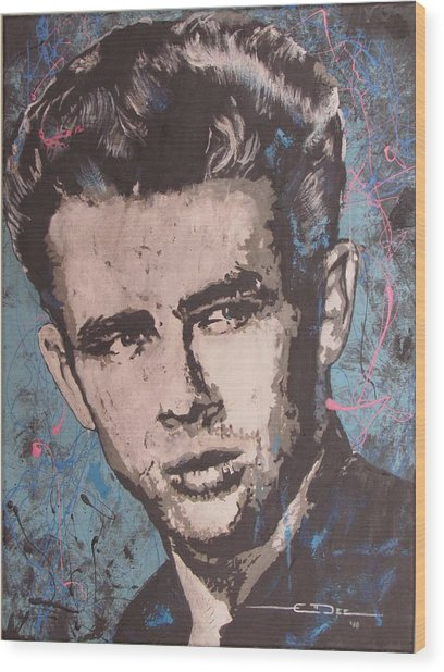 James Dean Blues Wood Print