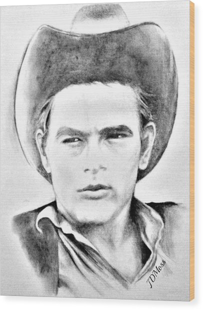 James Dean Wood Print by Janet Moss