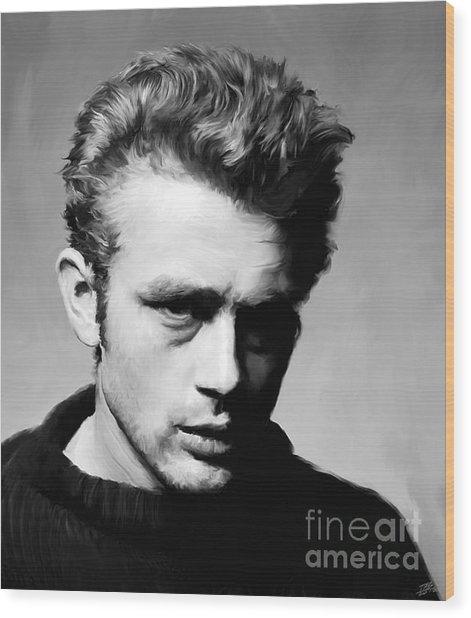 James Dean - Portrait Wood Print
