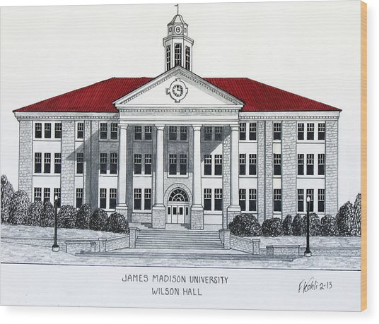 James Madison University Wood Print