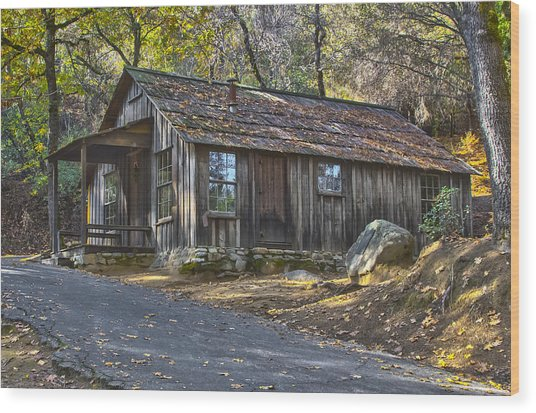 James Marshall Cabin Wood Print