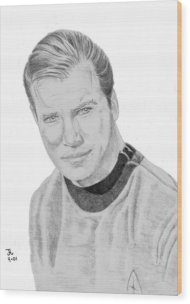James Tiberius Kirk Wood Print