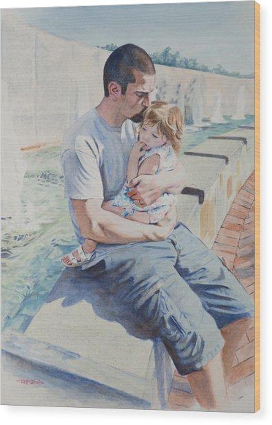 Jamie And Frankie Wood Print