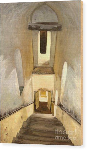 Jantar Mantar Staircase Wood Print