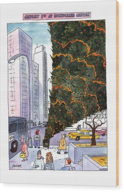 January 3rd At Rockefeller Center Wood Print