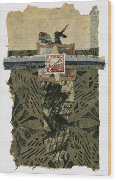 Japan 1943 Collage Wood Print