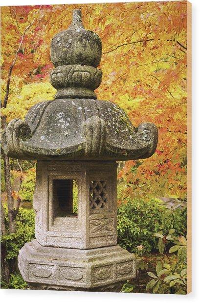 Stone Lantern Wood Print